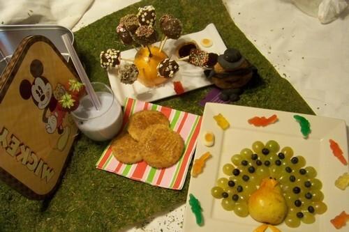 """Un goûter d'enfer ! sucettes de fruits au chocolat et  """"Pop Rocks"""", le Merveilleux paon aux fruits, les broyés du Poitou, les Roudoudous et milk shake myrtilles"""