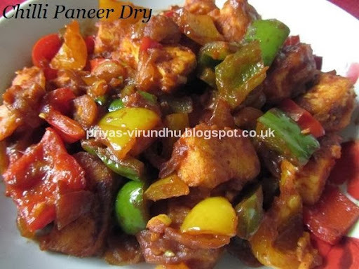 Chilli Paneer Dry/Easy Paneer Recipes