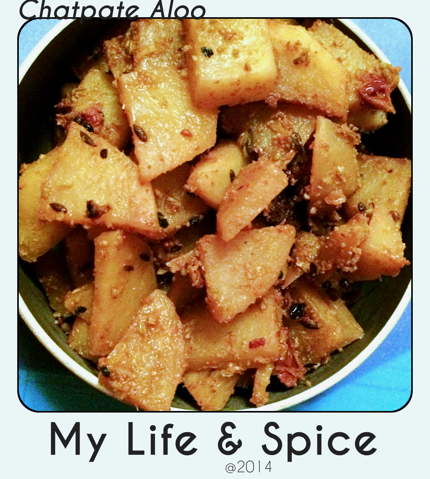 Chatpate Aloo - Cranberry Tinged Potatoes!!
