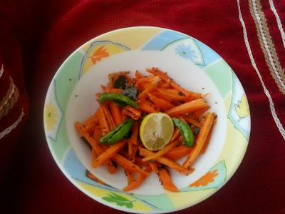 Carrot sambharo | gajar marcha no sambharo|gujarati carrot chilli salad
