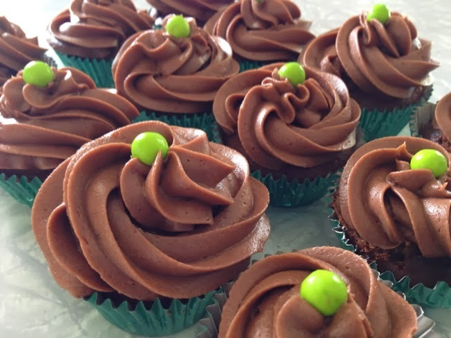 Chocolate Courgette Cupcakes - Poppy bakes