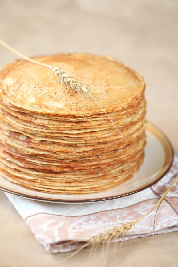 Блины на кефире / Blini (crepes russos) de kefir