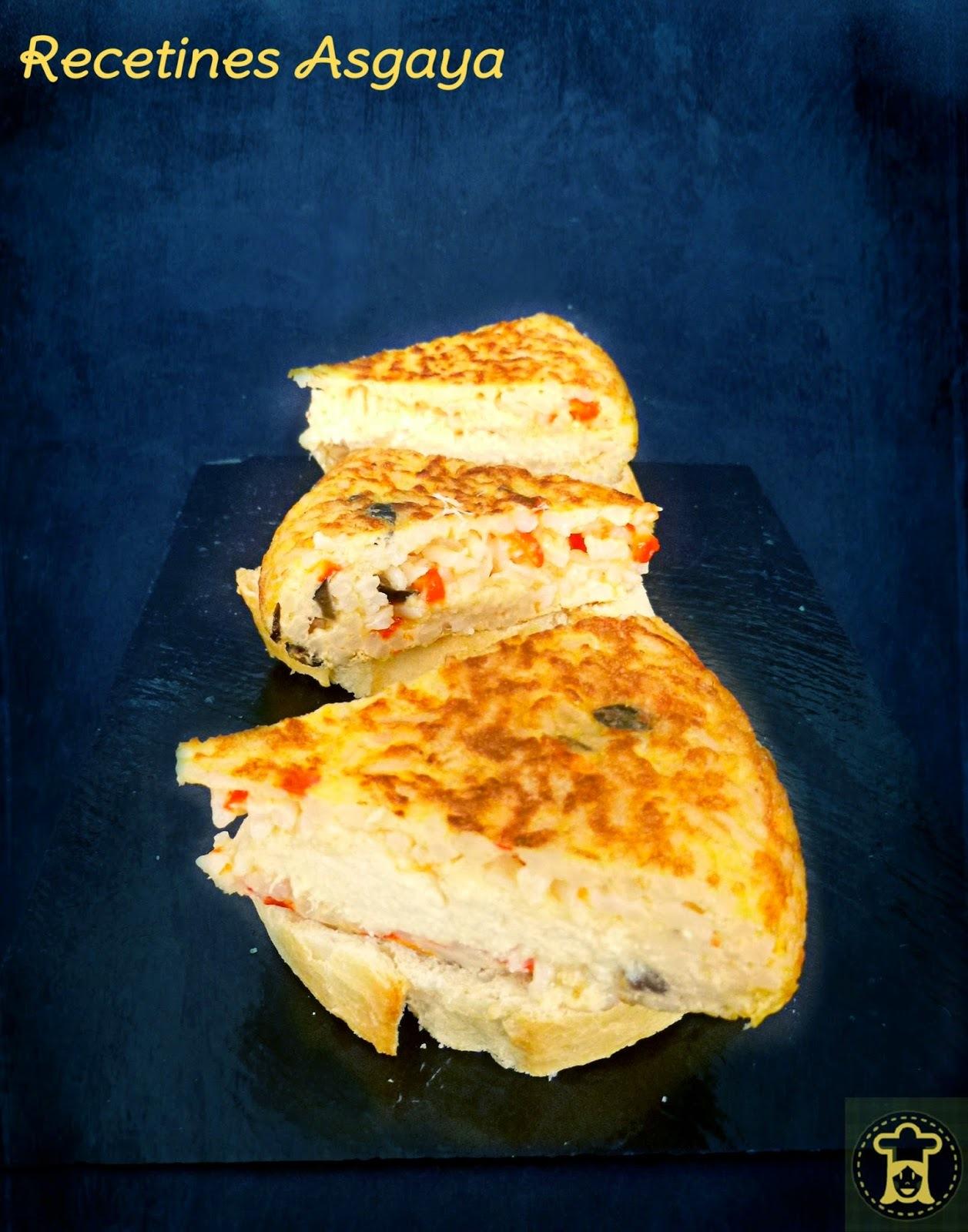 Tortilla de Arroz con Mousse de Bacalao