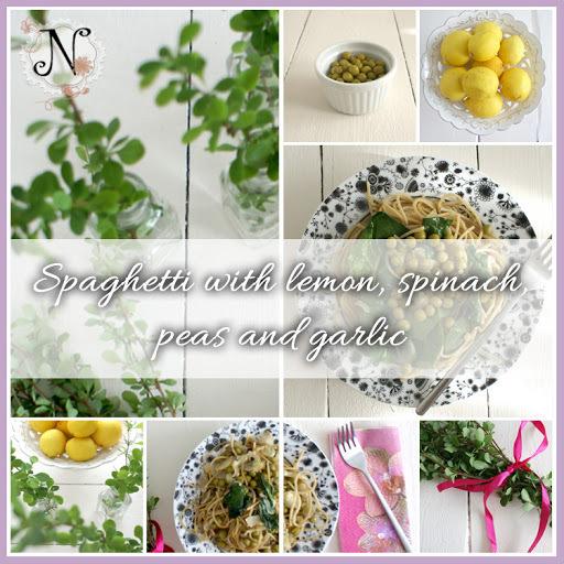 Healthy recipe: Spaghetti with lemon, spinach, peas and garlic / Špageti z limono, špinačo, grahom in česnom