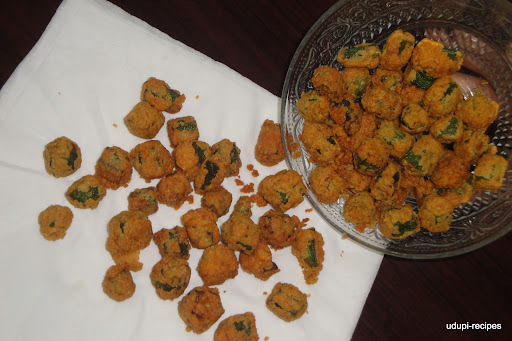 Ladies finger Fry/Ladies finger Pakoda Recipe
