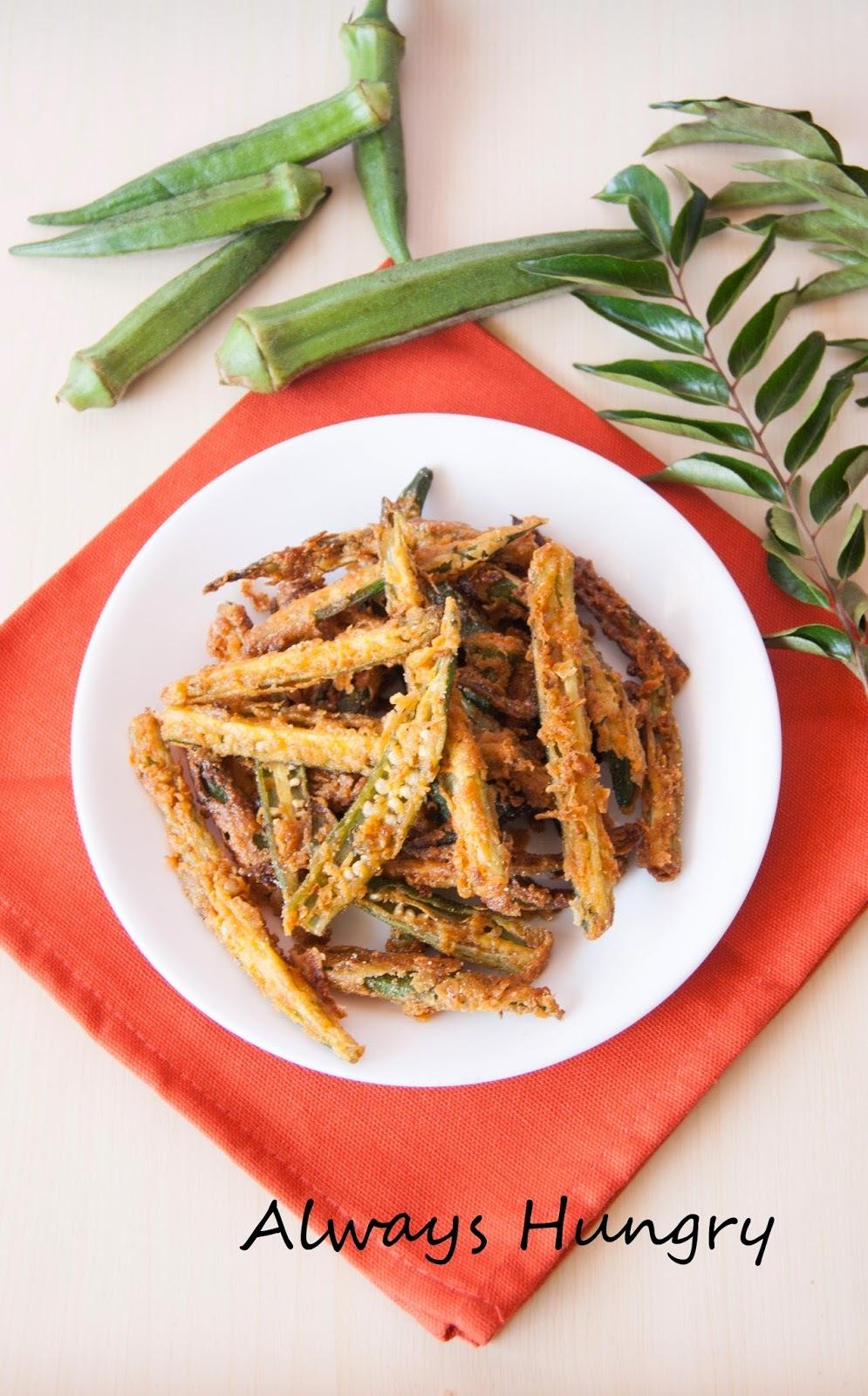 Crispy Fried Okra / Kurkuri Bhindi