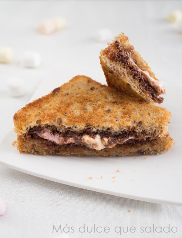 Sandwich de nocilla y nubes #singluten