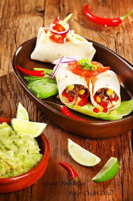 Kukoricás-marhahúsos burritos, Guacamole krémmel