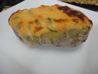 salmão com requeijão e batata