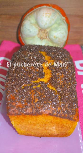 CAKE DE CALABAZA Y VIRUTAS DE CHOCOLATE