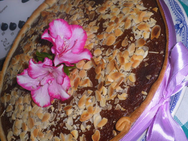 Tarte de nata e pudim flan com chocolate- Receita bimby e tradicional
