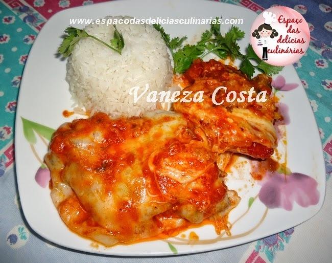 Filé de peixe a parmegiana, de Vaneza Costa
