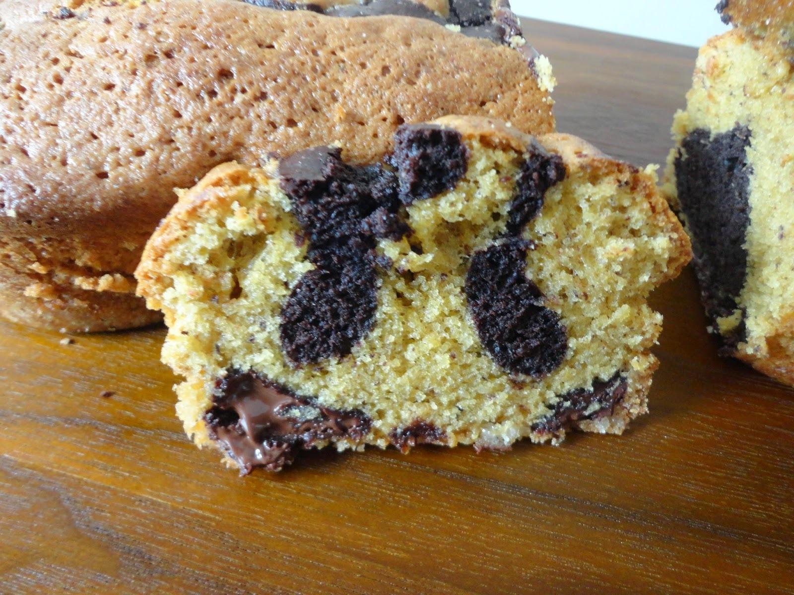 Biscuit noisettine et chocolat marbré, P. Conticini