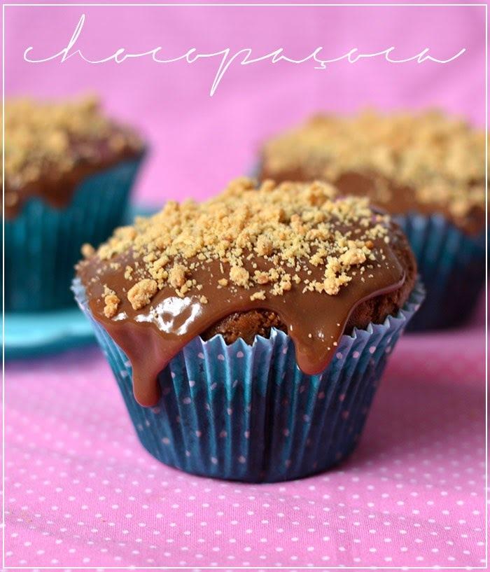{cozinha preguiçosa} Cupcake chocopaçoca