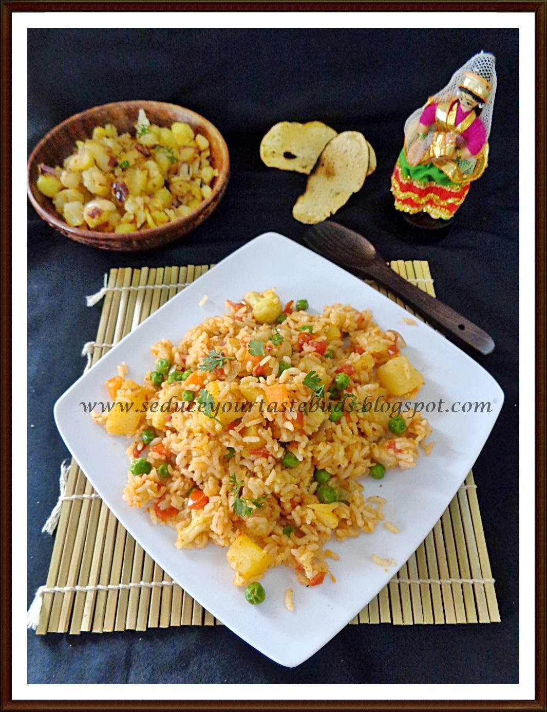 Chak Angouba & Aloo Kangmet | Manipuri Fried Rice & Mashed Potato Curry