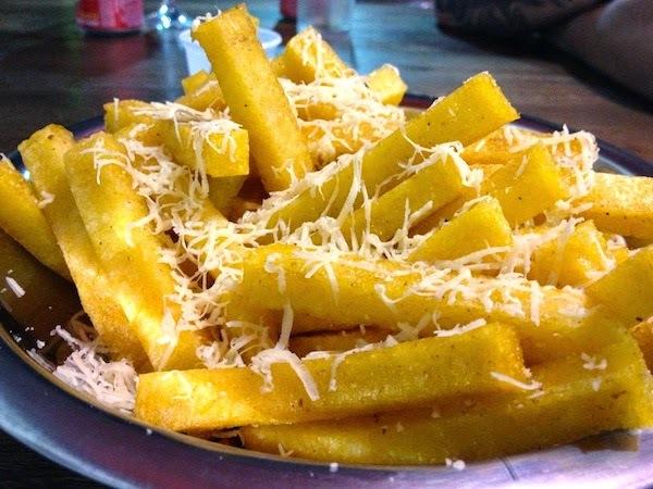 Polenta Frita com Queijo #Quinta-Feira