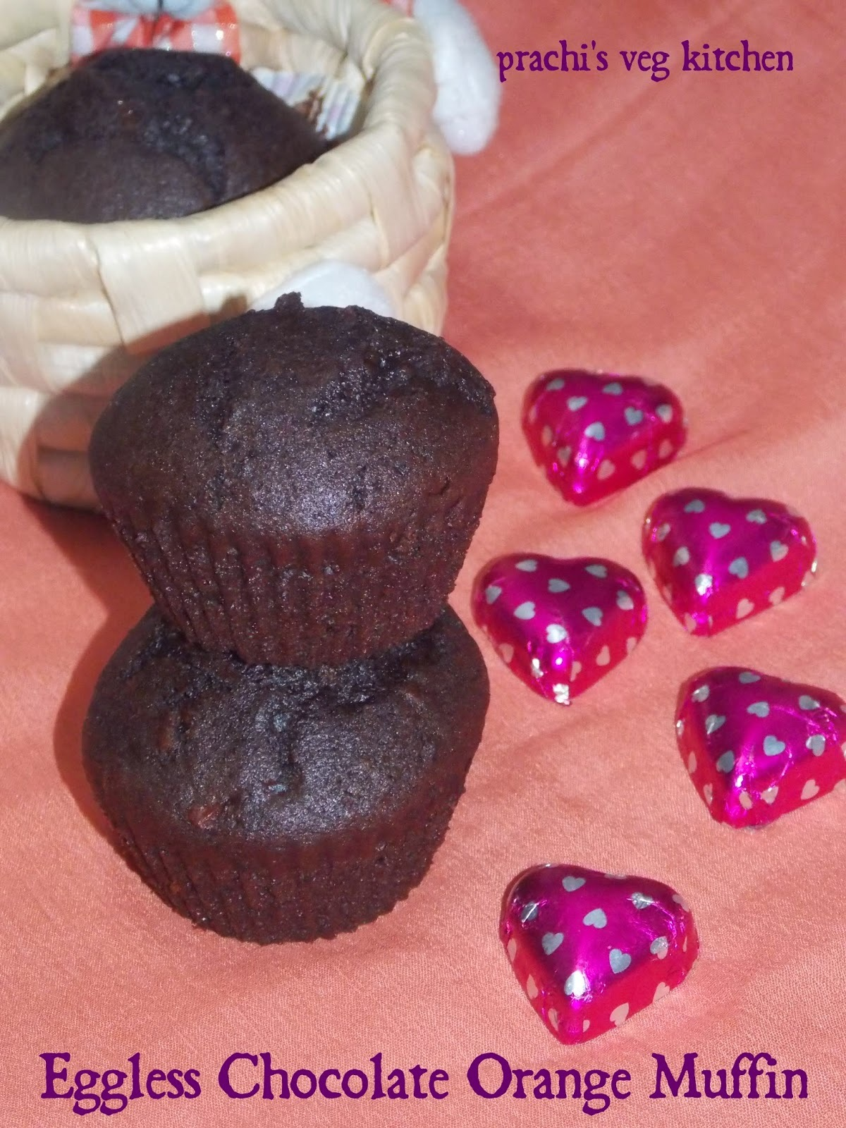 Eggless Chocolate Orange Muffin