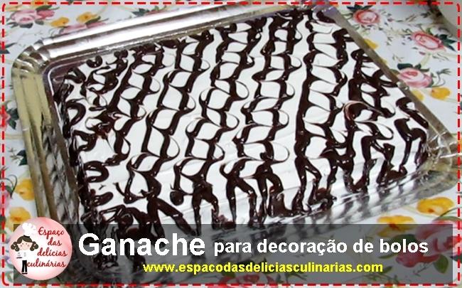 Ganache para decoração de bolos recheados e tortas doces, receita em vídeo