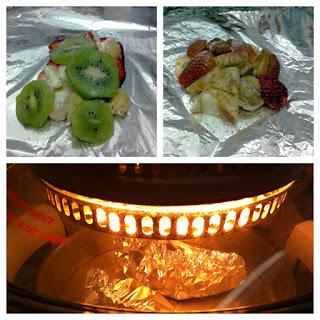 Cartoccio de frutas com sorbet de abacaxi