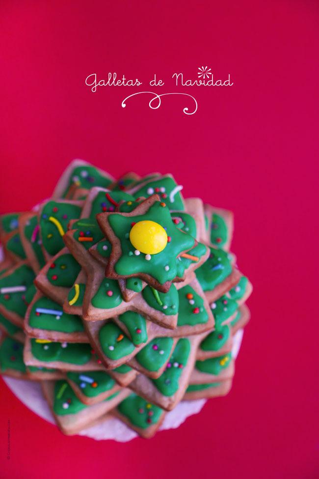Galletas de Arbolito de Navidad