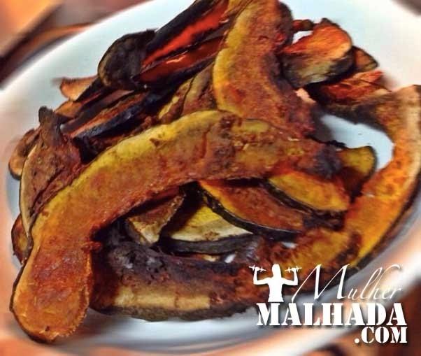 Receita de Chips de Moranga Cabutiá