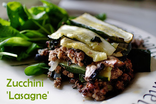 Zucchini 'Lasagne' - Paleo, AIP, SCD, NSD, low-FODMAPS option