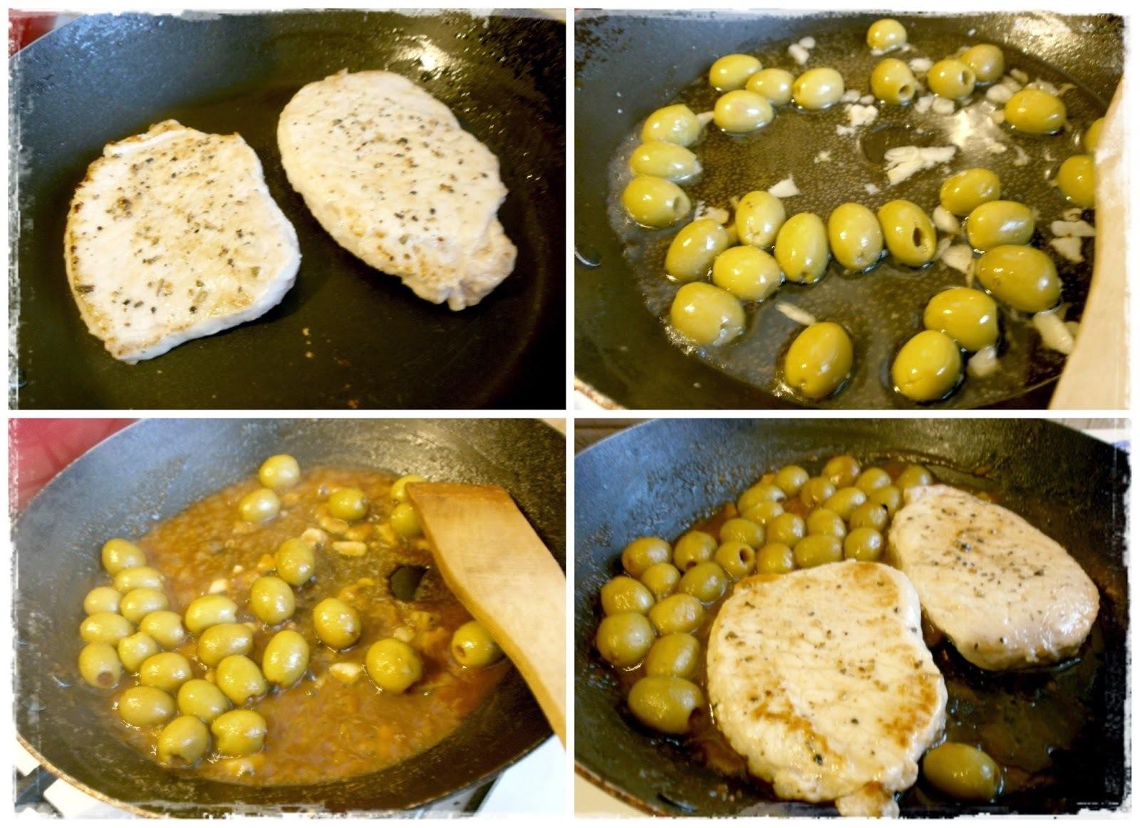 Bravčové rezne na olivách