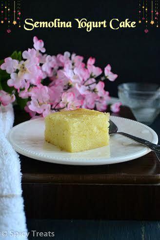 Semolina Yogurt Cake | Basbousa | Guest post by Sangee Vijay of Spicy Treats