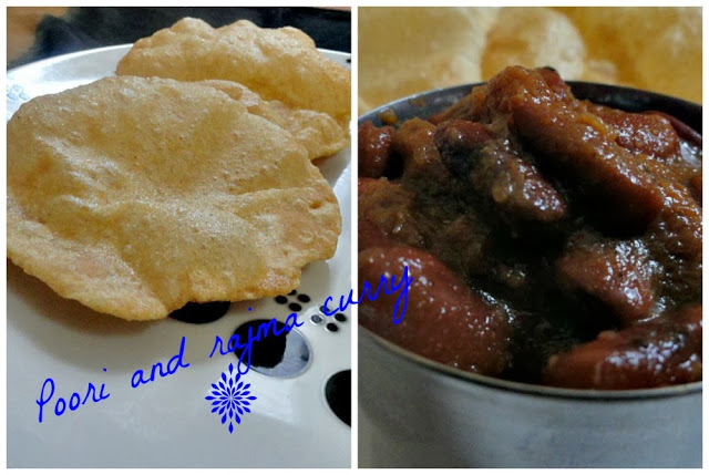 Puffy Pooris and Rajma gravy