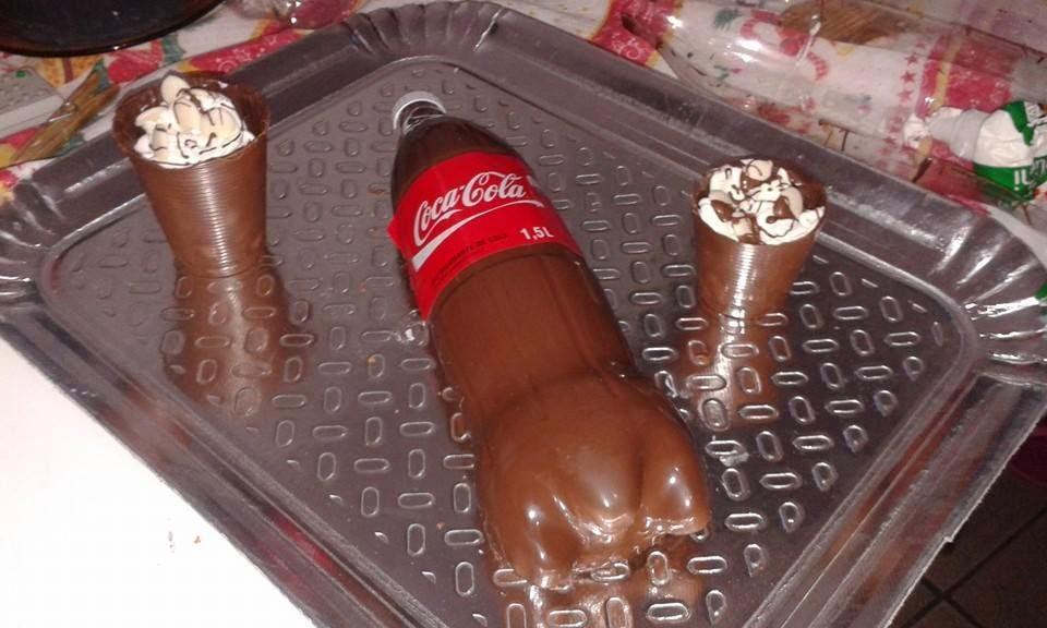 Como fazer um bolo com formato garrafa de Coca-Cola