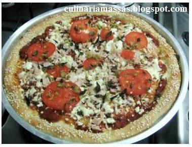 Massas:Pizza de Massa Crocante