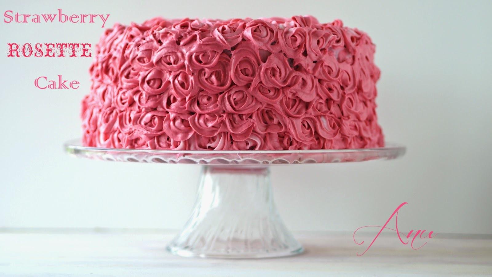 Strawberry Rosette Cake