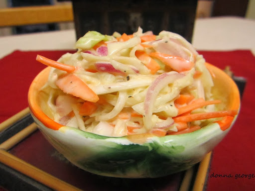 Creamy Cabbage and Carrot Coleslaw