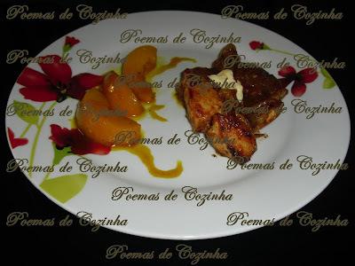 Peito de frango com Pêssego