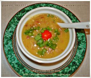 Sopa Cremosa de Carne Seca e Mandioca