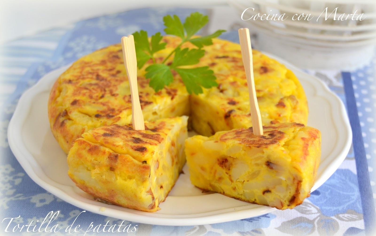 Tortilla de patatas con ajo