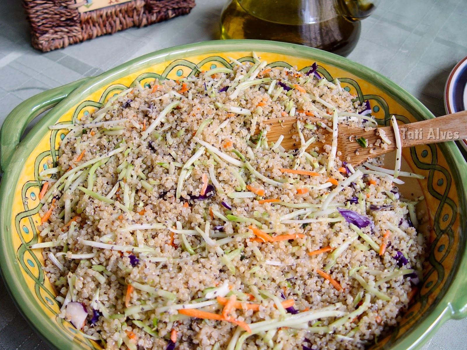 Salada de quinoa com chia