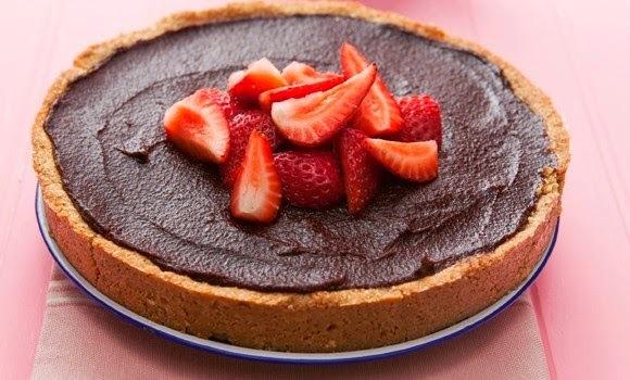 Tarta de Chocolate, Vainilla y Frutillas