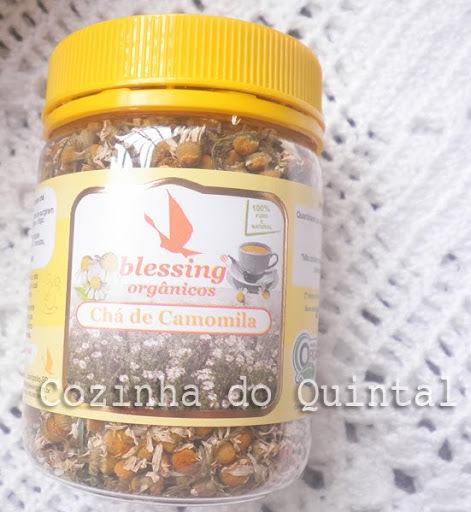 Bolo de Camomila com Chá Orgânico Blessing