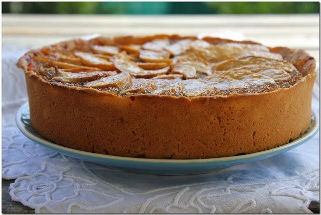 Kuchen de Manzana con Crema Pastelera