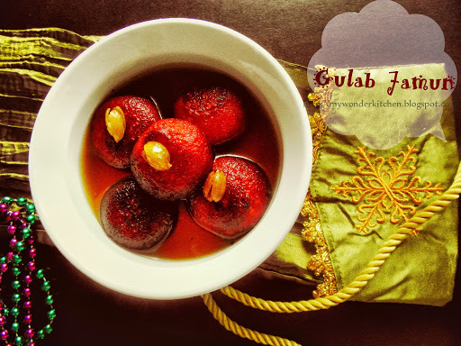 Gulab Jamun (made with milk powder)