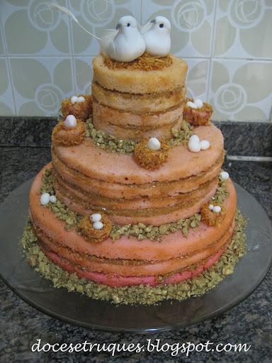 Passo a passo do naked cake
