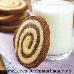 RECETA DE RUEDITAS DE CHOCOLATE Y VAINILLA