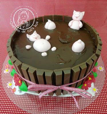 como fazer bolo de porquinho
