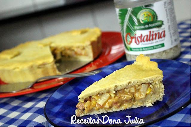 TORTA DE PALMITO COM BIOMASSA DE BANANA VERDE