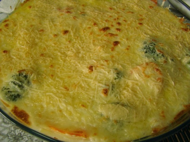 Gratinado de legumes e bechamel / Gratin of vegetables and bechamel