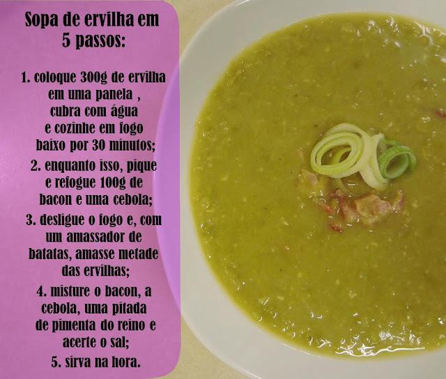 Sopa de Ervilha em 5 Passos