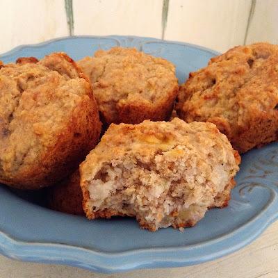 Muffins integrales de avena y plátano