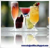 coquetel de frutas sem alcool e gelo seco