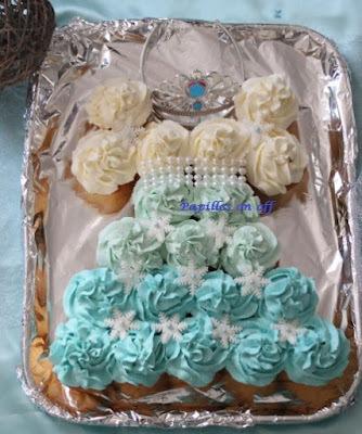 Gâteau de cupcakes en forme de robe de princesse Reine des neiges au thermomix ou sans – Sweet Table Anniversaire Reine des neiges